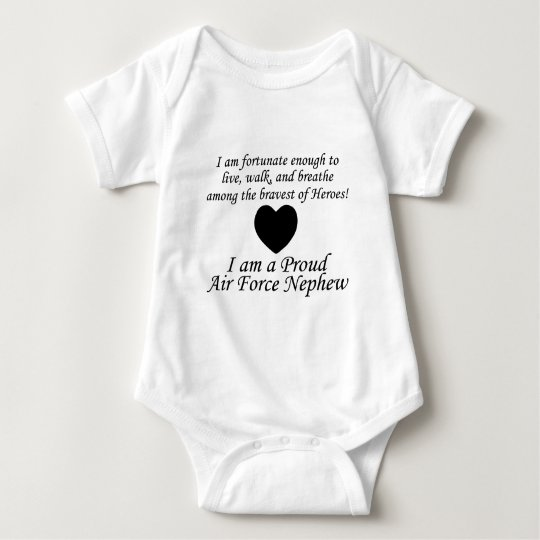 Air Force Nephew Fortunate Baby Bodysuit