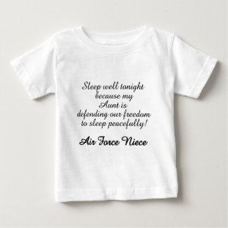 Air Force Niece Sleep Well Aunt Baby T-Shirt