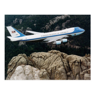 Air Force One over Mt. Rushmore Postcards
