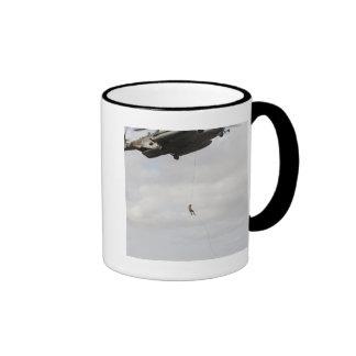 Air Force pararescuemen conduct a combat insert 2 Ringer Mug
