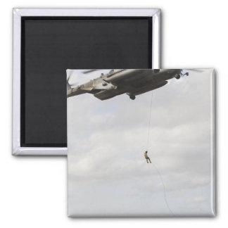 Air Force pararescuemen conduct a combat insert 2 Square Magnet