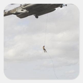 Air Force pararescuemen conduct a combat insert 2 Square Sticker