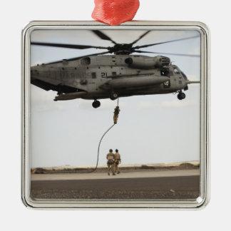 Air Force pararescuemen conduct a combat insert 3 Christmas Ornament