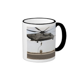 Air Force pararescuemen conduct a combat insert 3 Ringer Coffee Mug