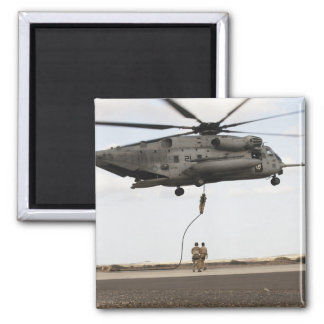 Air Force pararescuemen conduct a combat insert 3 Square Magnet