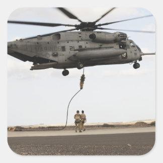 Air Force pararescuemen conduct a combat insert 3 Square Sticker
