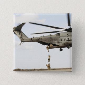 Air Force pararescuemen conduct a combat insert 4 15 Cm Square Badge