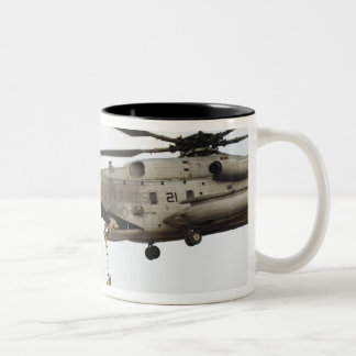 Air Force pararescuemen conduct a combat insert 4 Two-Tone Mug