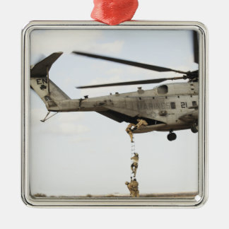 Air Force pararescuemen conduct a combat insert 4 Silver-Colored Square Decoration