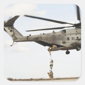 Air Force pararescuemen conduct a combat insert 4 Square Sticker