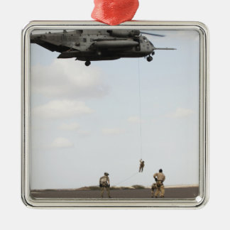 Air Force pararescuemen conduct a combat insert Christmas Ornament