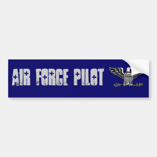 air force pilot Colonel Bumper Sticker