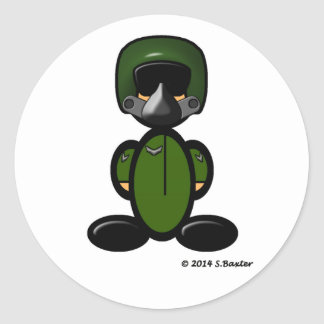 Air Force Pilot (plain) Classic Round Sticker