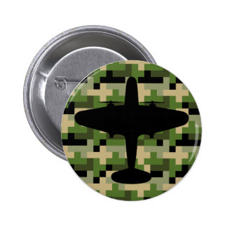 Air Force Plane Camouflage Button