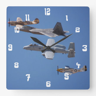 Air Force Planes/Jets Image Clocks