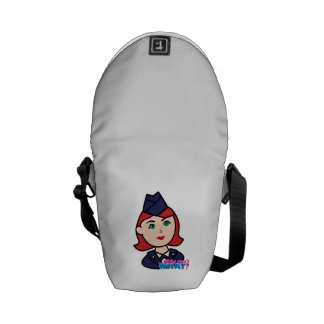 Air Force Red Head Courier Bag