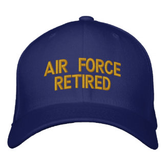 Air Force retired cap embroidered Embroidered Cap