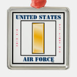 Air Force Second Lieutenant O-2 Christmas Ornament