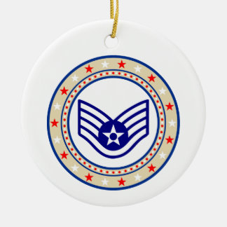 Air Force Senior Airman SrA E-4 Christmas Ornament