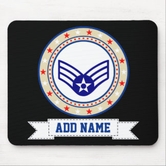 Air Force Senior Airman SrA E-4 Mouse Mat