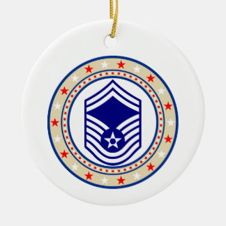 Air Force Senior Master Sergeant E-8 SMSgt Christmas Ornament