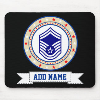 Air Force Senior Master Sergeant E-8 SMSgt Mouse Mat
