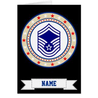 Air Force Senior Master Sergeant SMSgt E-8 Card