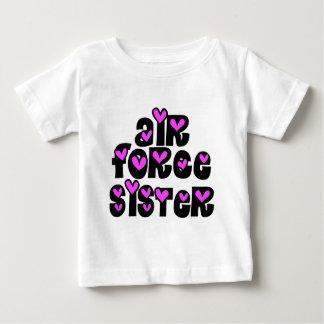 Air Force Sister Pink Hearts Baby T-Shirt
