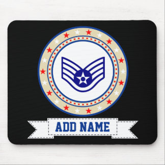 Air Force Staff Sergeant E-5 SSgt Mouse Mat