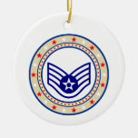 Air Force Staff Sergeant SSgt E-5 Christmas Ornament