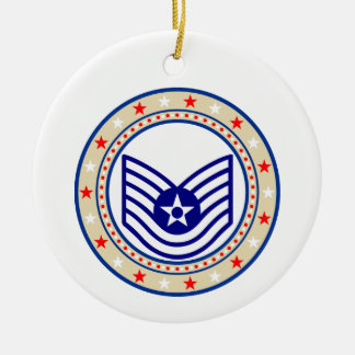 Air Force Technical Sergeant TSgt E-6 Christmas Ornament