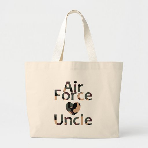Air Force Uncle Heart Camo Canvas Bag