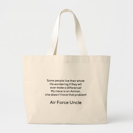Air Force Uncle No Problem Niece Bags