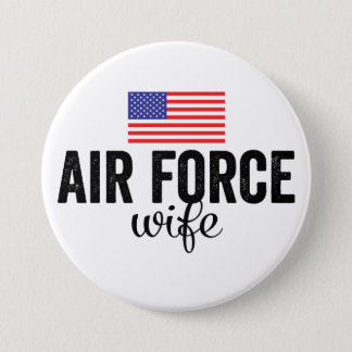 Air Force Wife American Flag Button