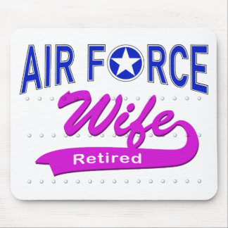 Air Force Wife Retired Mouse Pads