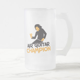 Air Guitar Champion design Frosted Glass Beer Mug