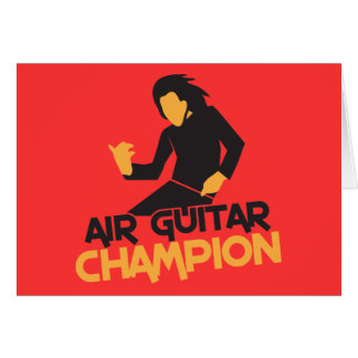 Air Guitar Champion design Greeting Card