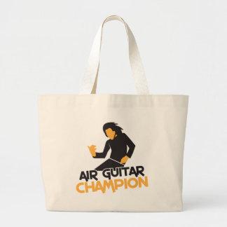Air guitar Champion NP Tote Bags