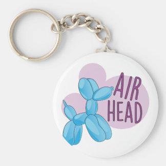 Air Head Basic Round Button Key Ring
