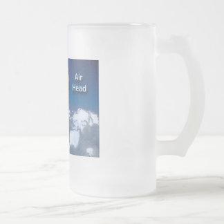 Air Head: Hot Air Balloon Frosted Glass Mug