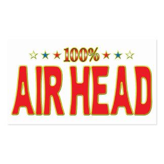 Air Head Star Tag Business Card Templates