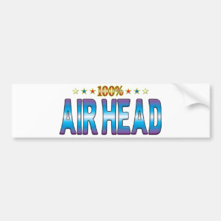 Air Head Star Tag v2 Bumper Sticker