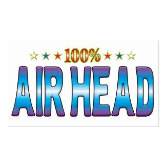 Air Head Star Tag v2 Business Card Templates