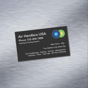 Heating and cooling business cards zazzle uk air heating cooling service magnetic business card reheart Images