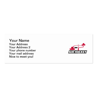Air hockey pack of skinny business cards