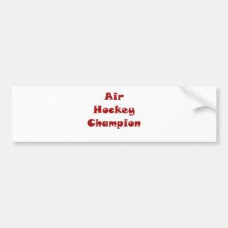 Air Hockey Champion Bumper Sticker