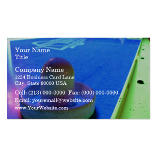 Air Hockey table and mallet with neon lighting Pack Of Standard Business Cards