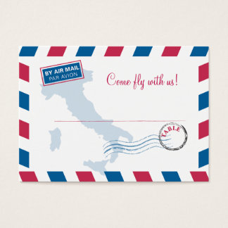 Air Mail Escort/Seating Card Wedding