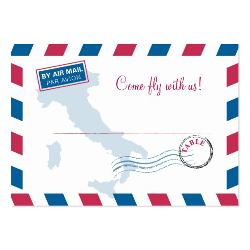 Air Mail Escort/Seating Card Wedding Business Cards