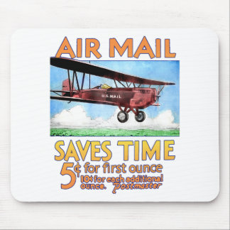 Air Mail Saves Time Mouse Mat